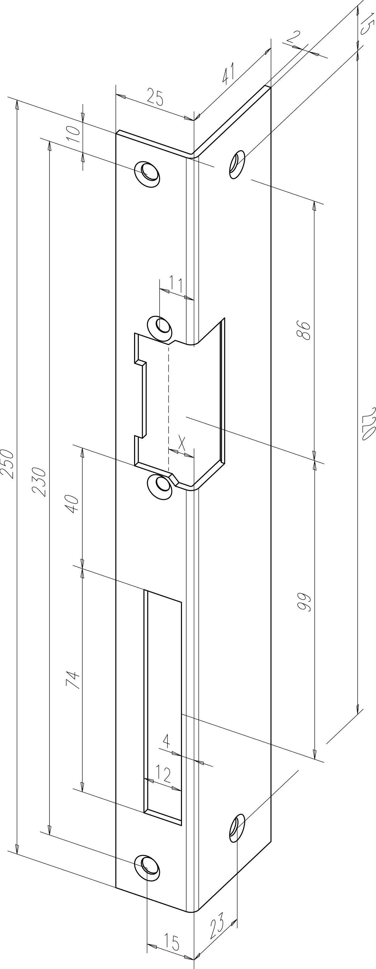 422xx 04 angeld strike plate angeld strike plate square cut bracket