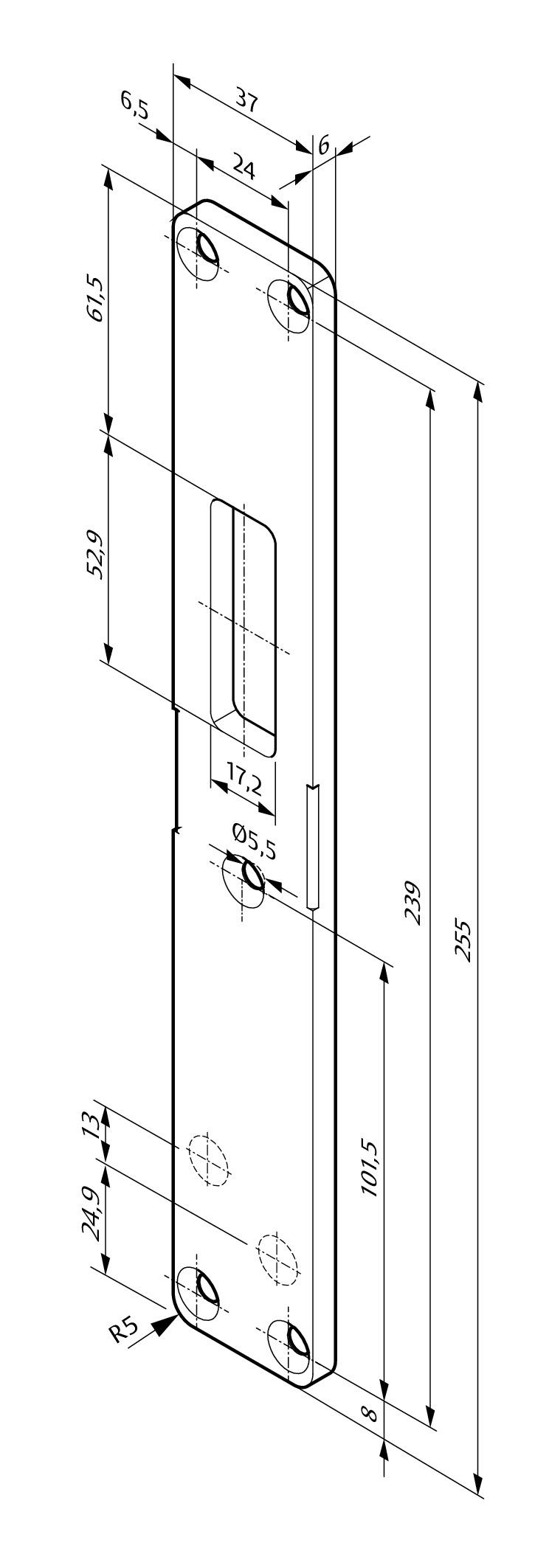 Assa Abloy M4 Schematic Replacement Striking Plates L4