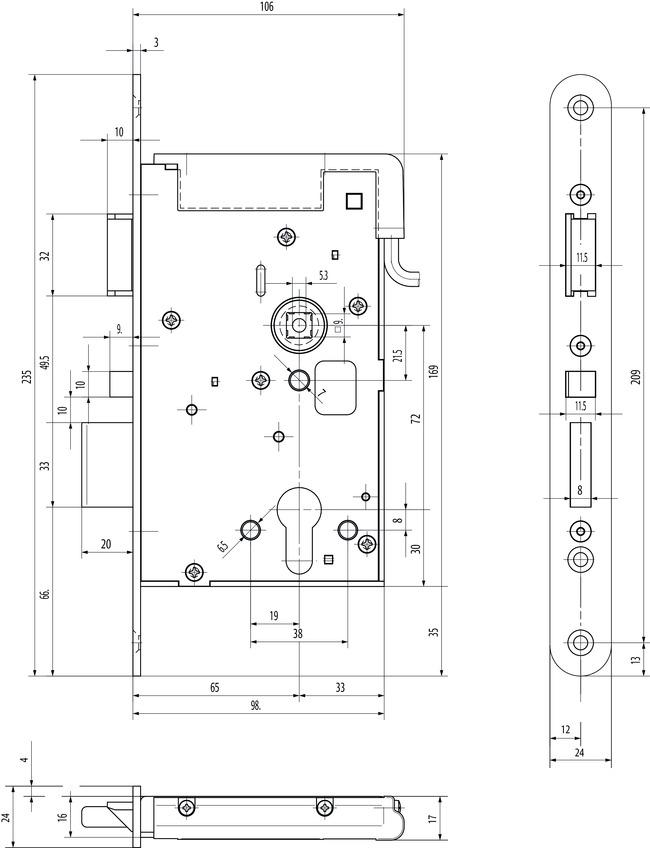 elektro sicherheitsschloss arbeitsstrom vollblatt version mit panikfunktion vollblatt. Black Bedroom Furniture Sets. Home Design Ideas